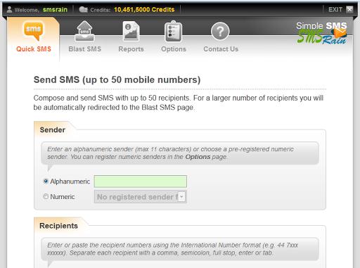 Bulk SMS-SMS Rain