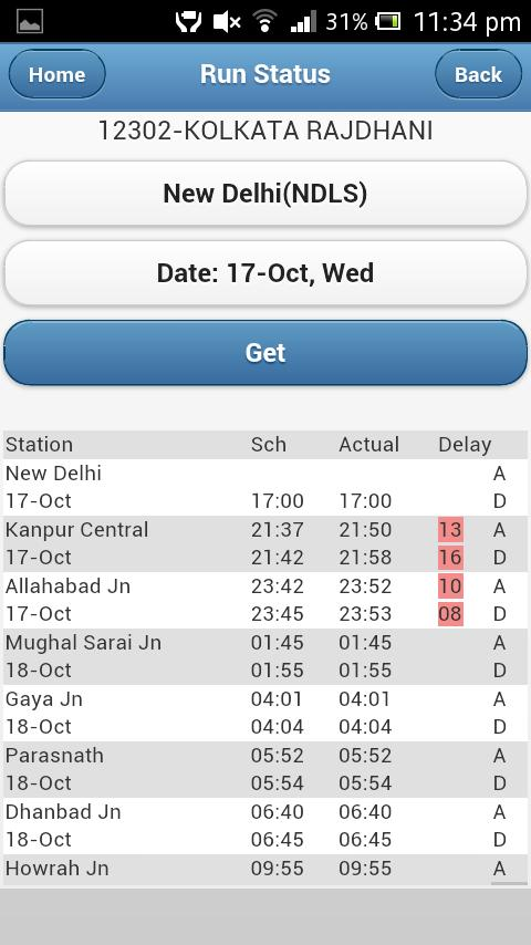 Indian Rail / Train - eRail.in- screenshot