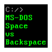 MS-DOS Space vs Backspace