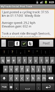 MyTracks Social Plugin- screenshot thumbnail