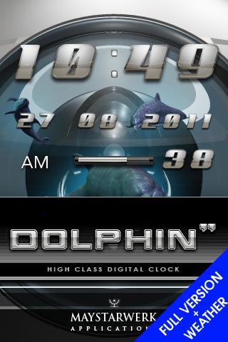 dolphin clock weather widget - screenshot