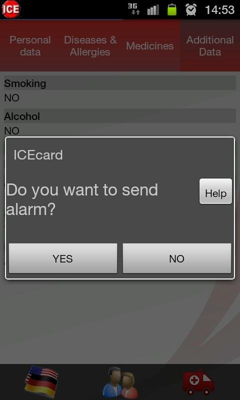 ICE - in case of emergency - screenshot