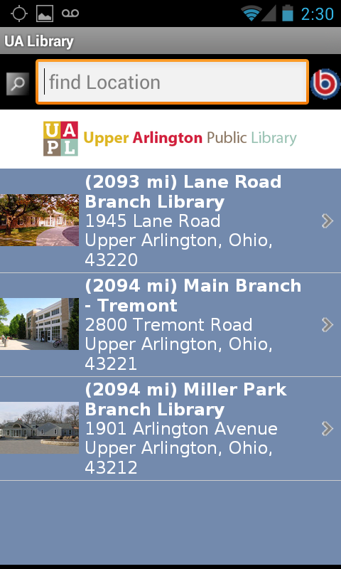 Upper Arlington Public Library- screenshot