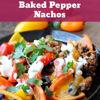 Baked Pepper Nachos.