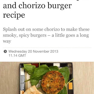 Chickpea and Chorizo Burger