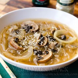 Mushroom Onion Miso Soup.