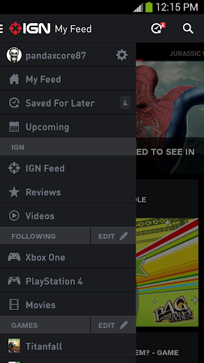 Screenshot 1 for IGN's Android app'