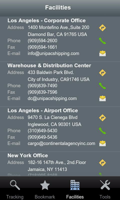 Unipac Tracking System- screenshot