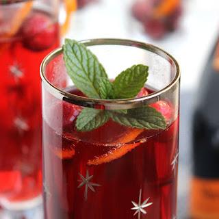 Cranberry Pomegranate Bellini.
