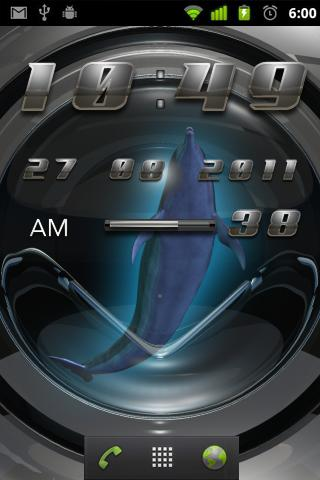DOLPHINS DIGI CLOCK - screenshot
