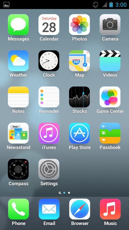 скачать тему айфон 4 на андроид