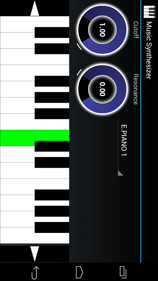 Music Synthesizer for Android - screenshot