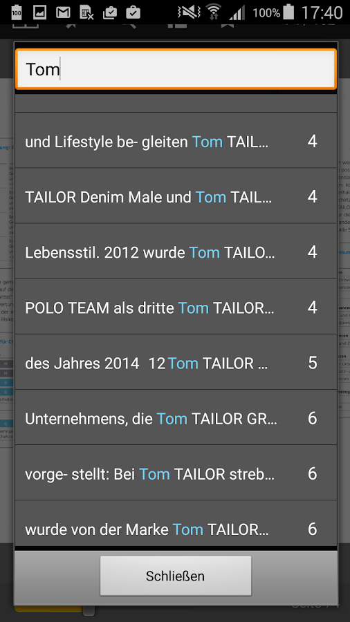 Tom Tailor Investor Relations- screenshot