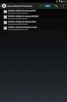 Screenshot of Konica Minolta Print Service