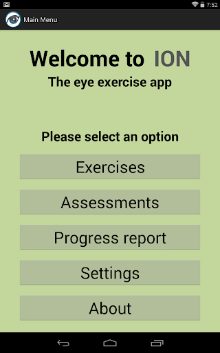 ION: The eye exercise app