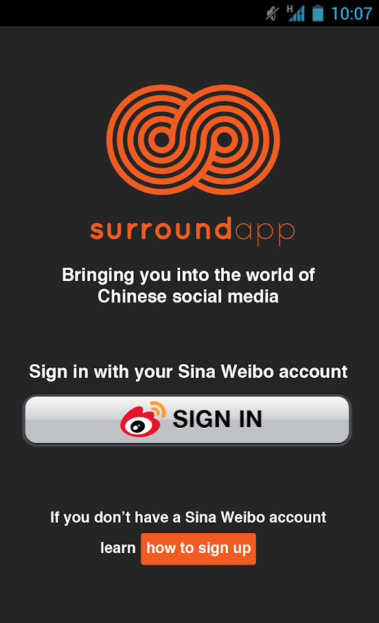 Surround App-Weibo in English- screenshot