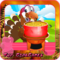 Cook games for kids - turkey icon