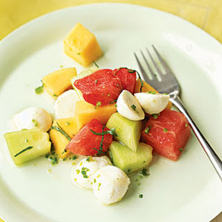 Three-Melon Mozzarrella Salad