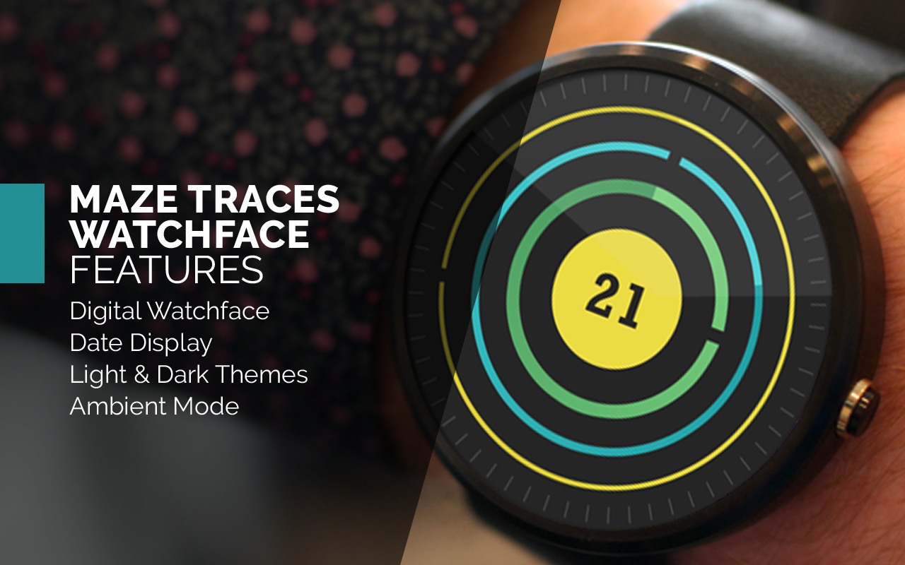 Maze Traces Watch Face- screenshot