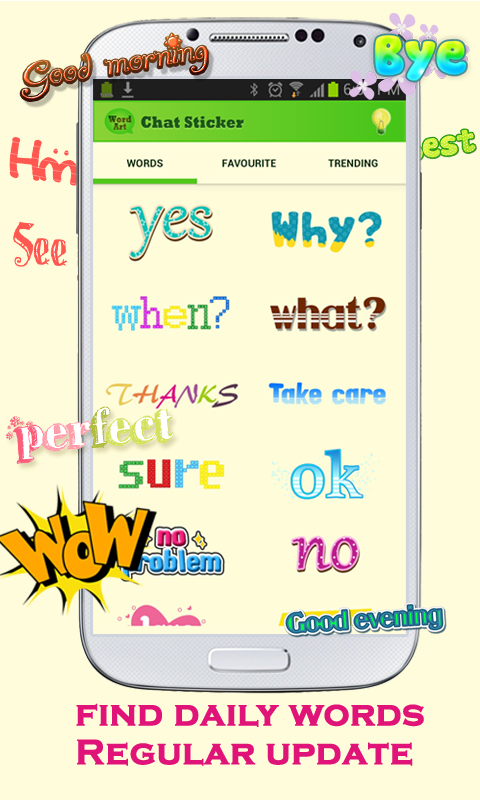 WordArt Chat Sticker for C - screenshot
