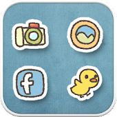 Duck ski icon theme