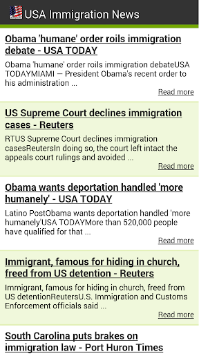 【免費旅遊App】USA Immigration News-APP點子