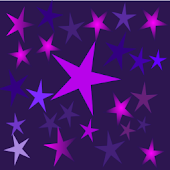 Crazy Home Purple Stars Dark