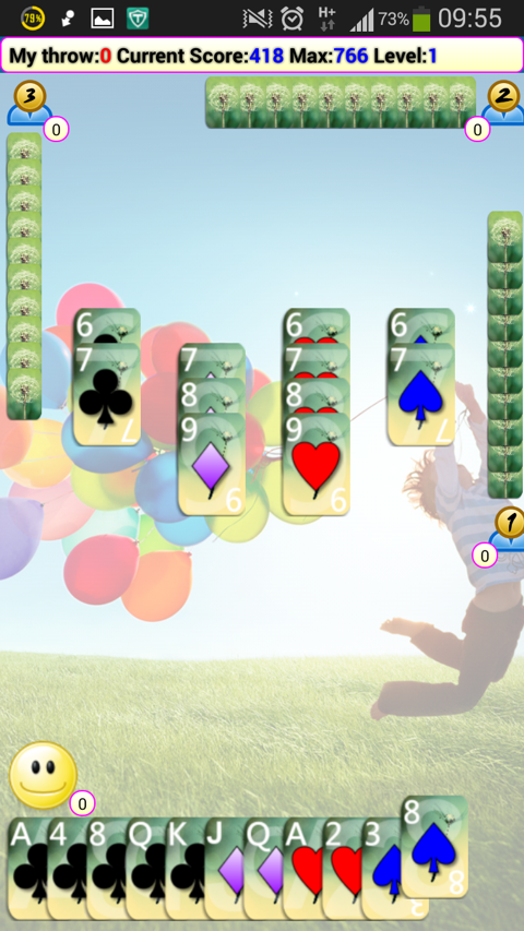 Poker Solitaire (Seven) - screenshot