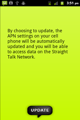 Straight Talk Data Settings - screenshot