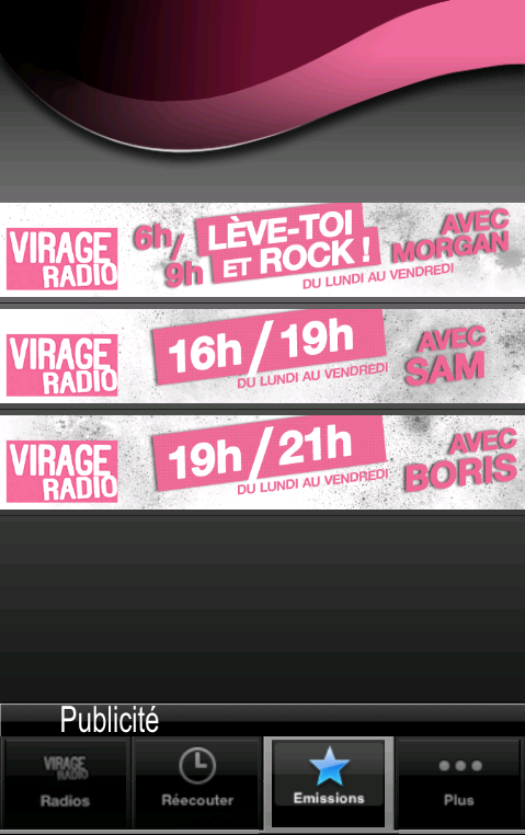 Virage Radio- screenshot
