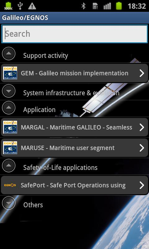 Galileo & EGNOS Satellites - screenshot