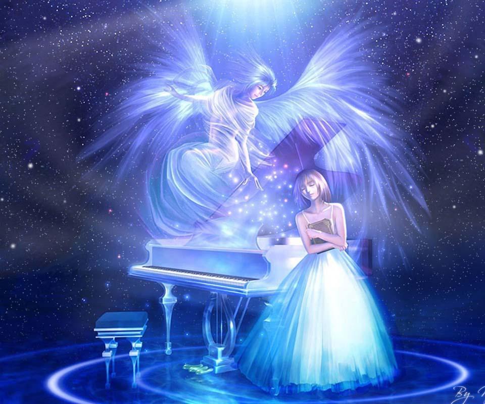 3D Angels Wallpaper Screenshot