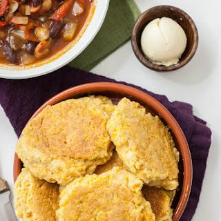Cornbread Skillet Biscuits (v)