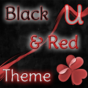 GO Launcher Theme Black & Red icon