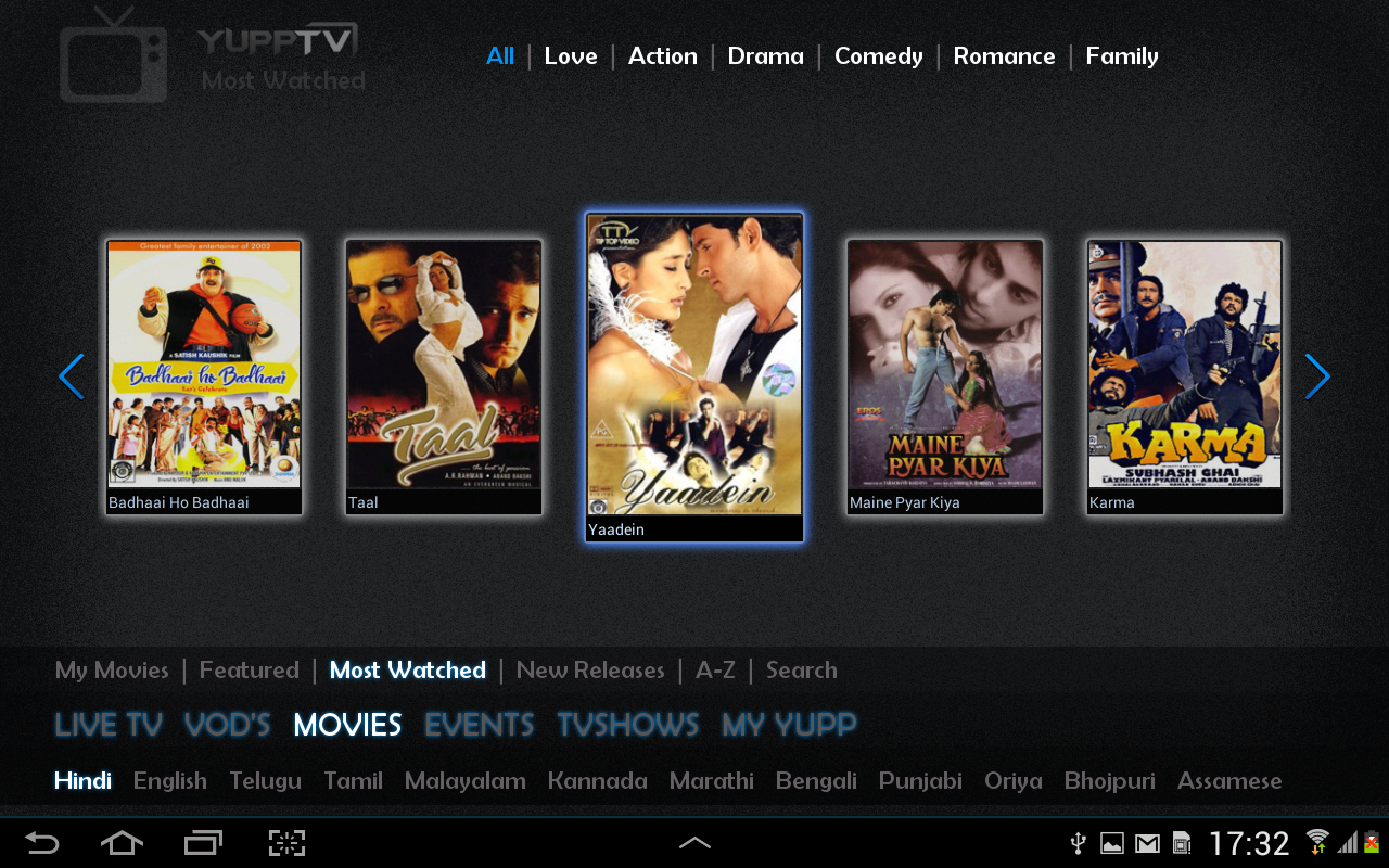 YuppTV - screenshot