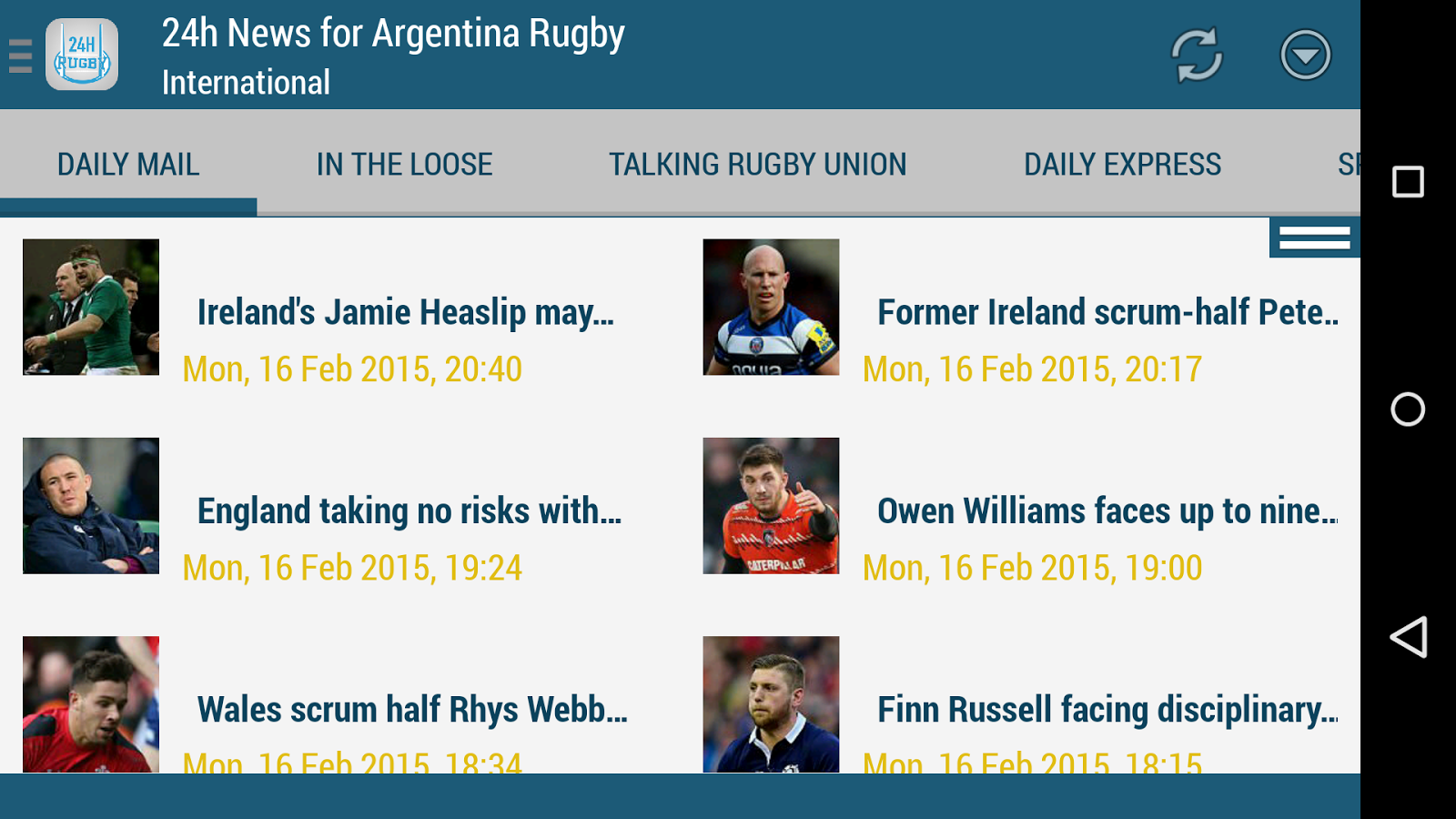 Argentina Rugby 24h- screenshot