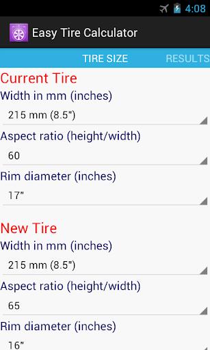 Easy Tire Calculator