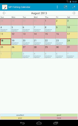 玩工具App|MP 钓鱼日历 Pro免費|APP試玩