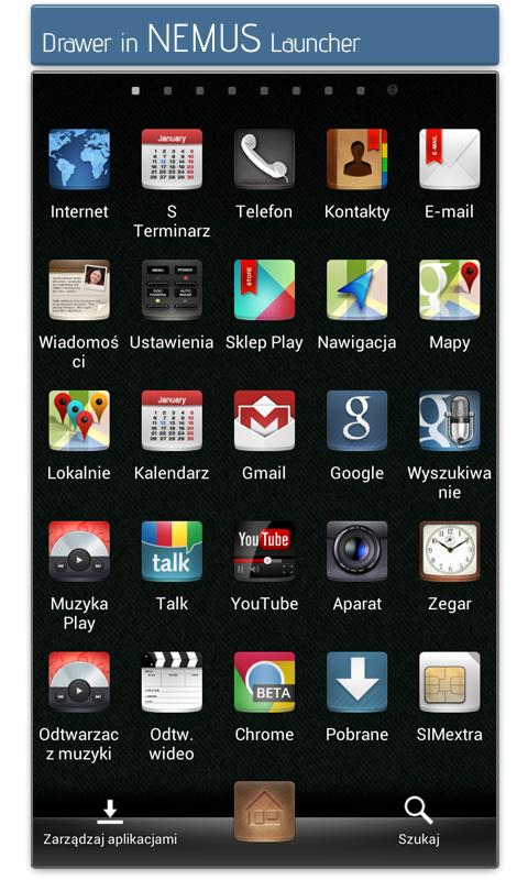 DCikonZ ADW Apex Nova Go Theme - screenshot