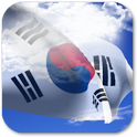 3D South Korea Flag + icon
