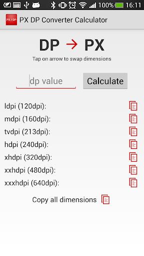 PX DP Converter Calculator