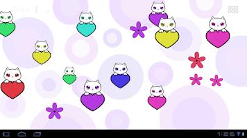 Screenshot of Lily Kitty Heart LiveWallpaper