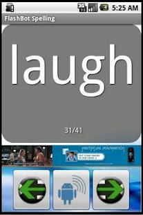 FlashBot Sight Words- screenshot thumbnail