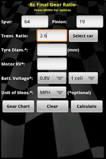 Rc Final Gear Ratio LITE- screenshot thumbnail