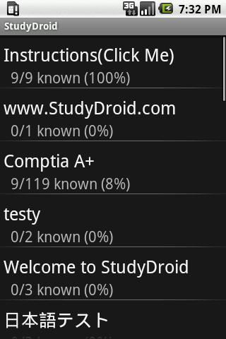 StudyDroid Flashcards 2.0-Pro- screenshot