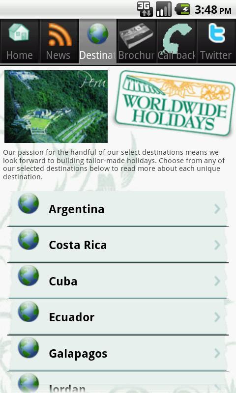 Worldwide Holidays- screenshot