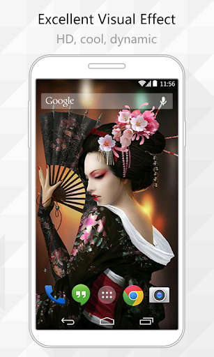 【免費個人化App】Geisha Doll Live Wallpaper-APP點子