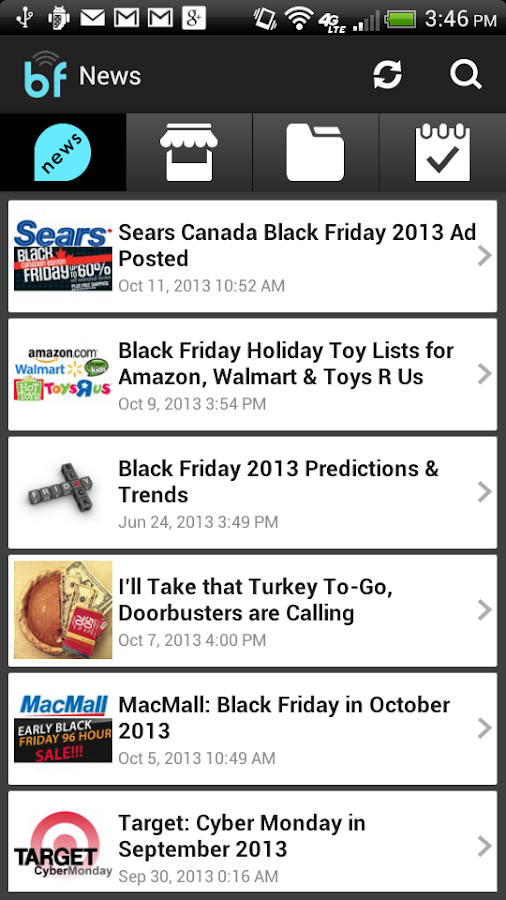 Black Friday Ads App 2014 - screenshot
