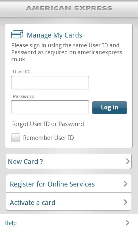 American Express UK - screenshot