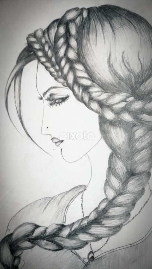 A Sad Yet Beautiful Lady All Drawing Drawing Pixoto